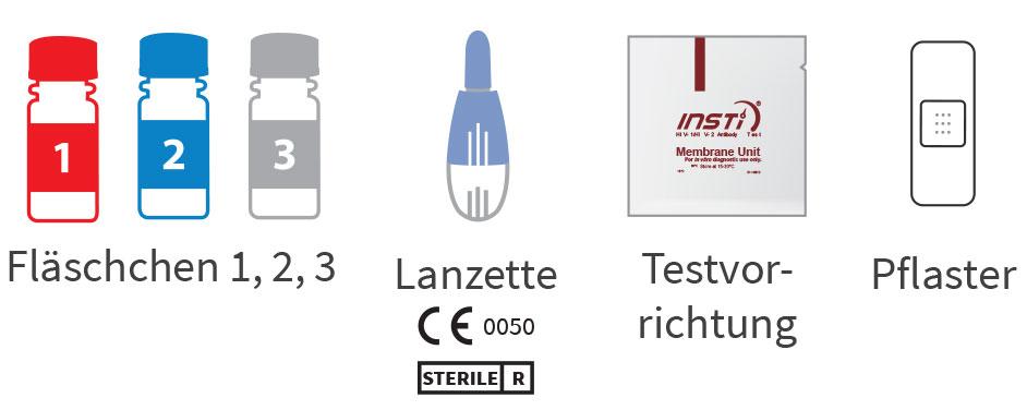 insti hiv Selbsttest enthalten